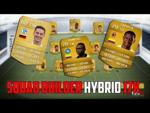 FIFA 14| Squad Builder HYBRID CHEAP 17K SERIE A/BUNDESLIGA TEAM!
