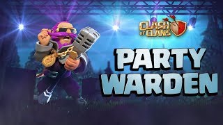 Party Warden Gets The Party Started! (Clash of Clans August Season Challenges)