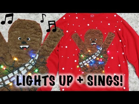 DIY Chewbacca Ugly Christmas Sweater (Lights Up + Sings!)