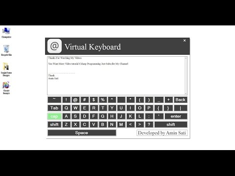 How to Create Virtual Keyboard in Csharp Visual Studio 2010 With Simple Programming