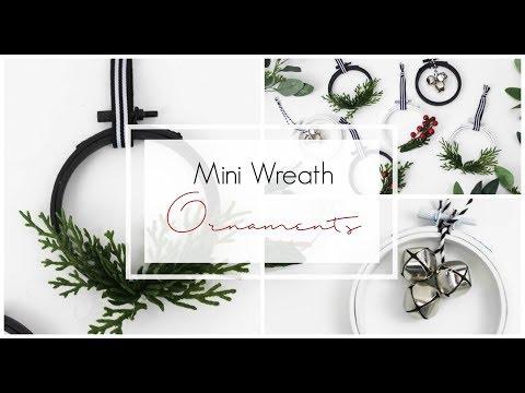Christmas DIY & Decor Challenge: Mini Wreath Ornaments