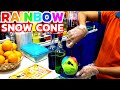 Snow Cone | Colorful Rainbow Ice Cream in Dubai - Ice Gola / Snow Halva
