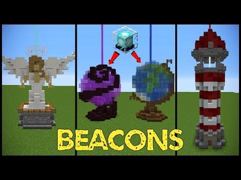 11 Minecraft Beacon Designs!