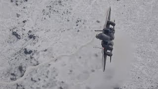 Pair of F-15 Eagles in the Snowy Hill's Mach Loop