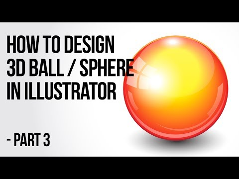 Illustrator Tutorial: How to create a 3d ball / sphere - Part 3