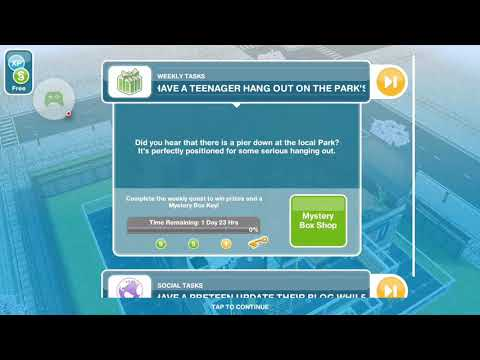 The Sims Freeplay - Have a Teenager Hangout in the Park's Pier - Weekly Task
