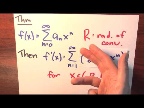 Can I differentiate a power series? - Week 5 - Lecture 8 - Sequences and Series