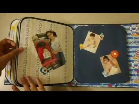 scrap book for baby boy