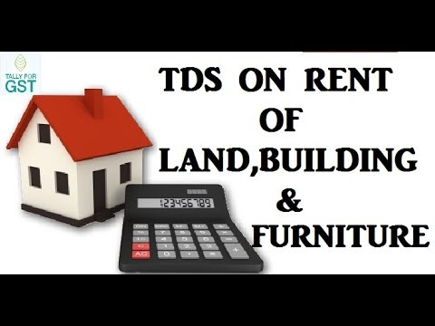 TDS Deduct On Rent Of Land,Building Or Furniture/ TDS Deduction On Rent -Tally.ERP9
