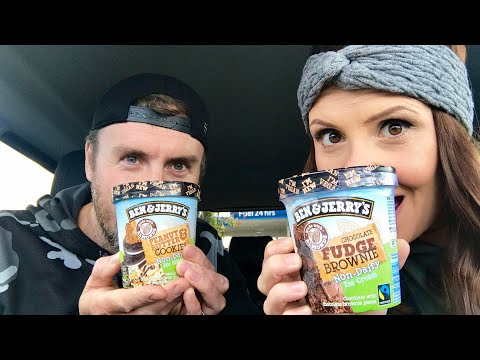 TRYING VEGAN BEN & JERRYS ICE CREAM!