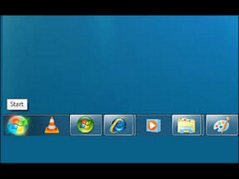how make the taskbar icons small in windows 7