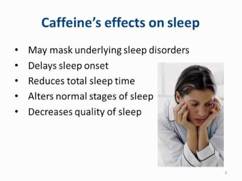 SleepWell: Caffeine and Sleep