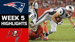Patriots vs. Buccaneers | NFL Week 5 Game Highlights