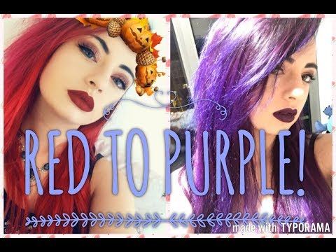 Red To Purple Hair Experiment | PusheenQueen
