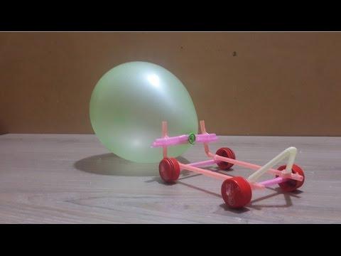 Make an Air Powered Balloon Car for kids - real life hacks