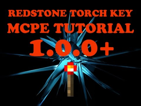 HOW TO MAKE A TORCH KEY IN MCPE 1.0.0+