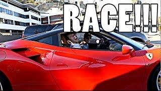 RECREATING FAST & FURIOUS DRAG RACE WITH FERRARI!!!