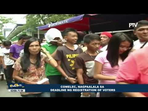 COMELEC, nagpaalala sa deadline ng registration of voters