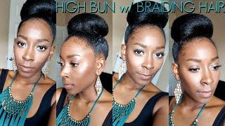 Nicki Minaj Inspired Ponytail Bun With Affordable Braiding Hair