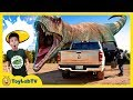 Escape The Giant T Rex Dinosaur Challenge Aaron Found A Kids Game Toy LB Has Fun At Dino School
