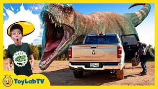 Download Escape the Giant T-Rex Dinosaur Challenge! Aaron Found a Kids Game Toy & LB Has Fun at Dino School Video