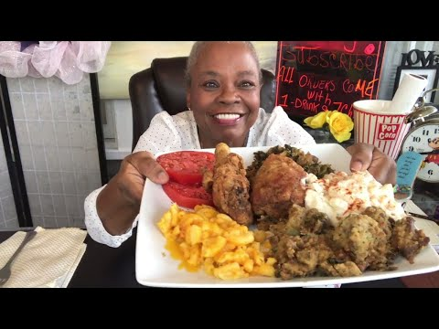 HOW TO MAKE SOUL FOOD SUNDAY FRIED  CHICKEN | GREENS | DRESSING | MAC N CHEESE |POTATO SALAD