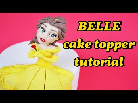 BELLE and the beast cake topper fondant tutorial - la BELLA e la bestia pasta zucchero torta