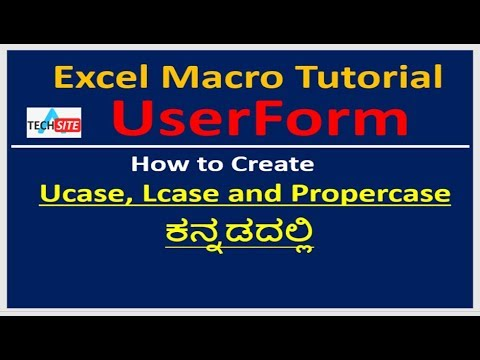 How to convert text into Upper, Lower and Proper case in Userform Textbox|| in Kannada