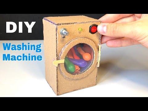How to Make Amazing Mini Washing Machine from Cardboard