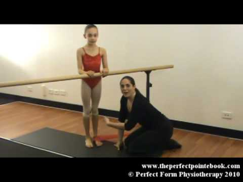 Foot Strengthening for Ballet - Rises with Resistance Band