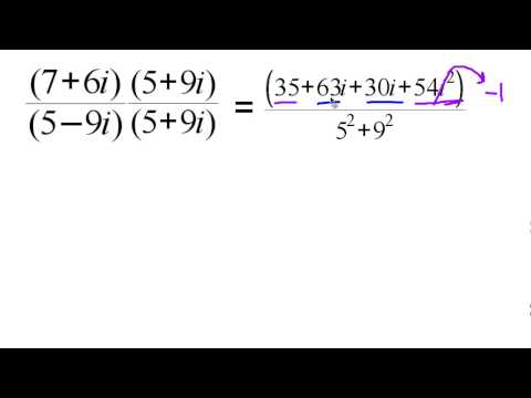6.1 Complex Numbers: Conjugate, moduli and quotients N.CN.3