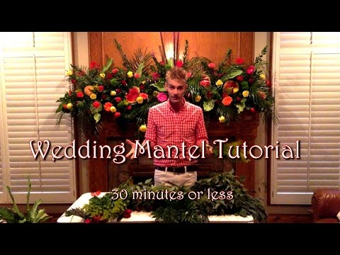 DIY Wedding Flowers Mantelpiece Tutorial (Quick and Easy)