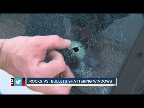 Rocks vs bullets: A look at window damage