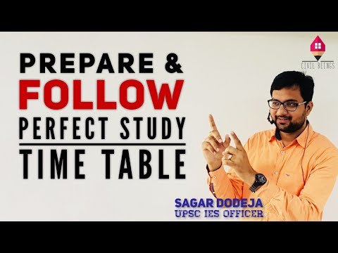 How to Make & FOLLOW a Study Time Table | Toppers Study plan, tips and tricks by IES Officer