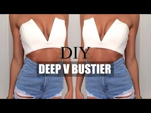 DIY |  HOW TO MAKE A DEEP V BUSTIER TUMBLR INSPIRED