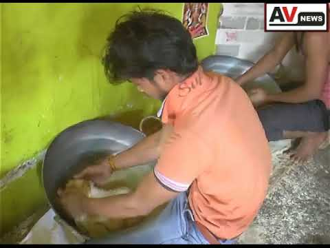 The making of  famous Healthy Gajak in Ujjain