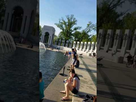 Veteran chases disrespectful foreigners out of WWII War memorial in DC