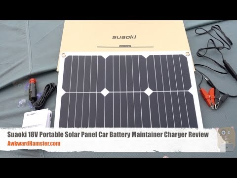 Suaoki 18V Portable Solar Panel Car Battery Maintainer Charger Review