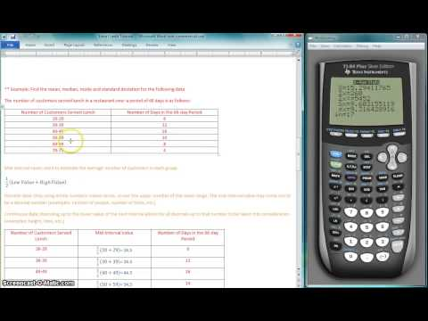 Mean, Median, Mode and Standard Deviation on TI-84