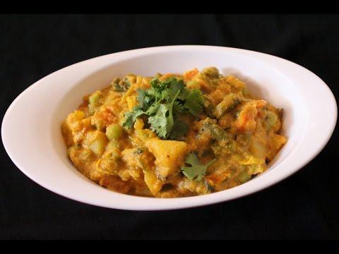 how to make veg kurma | vegetable korma | how to make mixed veg kurma for rice and chapati