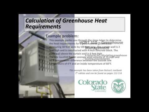 Greenhouse Heating Calculation Tutorial