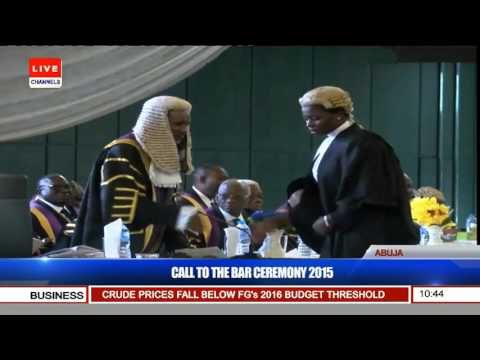 Nigerian Law School Call To Bar Ceremony 2015 (Pt 4) 15/12/15