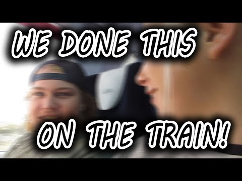 Can't Believe he done this on the train !!!  (travel vlog)
