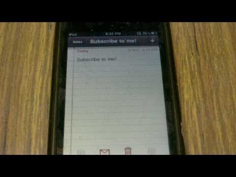 How to change the Notes Font on your iPod Touch, iPhone or iPad