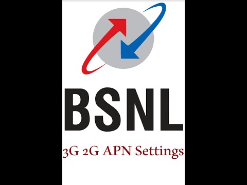 BSNL 3G 2G Internet APN Access Point Name Settings for MMS