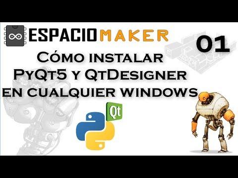✔️ Cómo instalar PyQt5 y Qt Designer en cualquier Windows by Espacio Maker 🔥