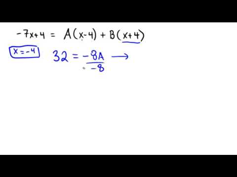 Finding the partial fraction decomposition with only distinct linear factors