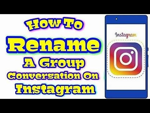 How To Rename A Group Conversation On Instagram In Mobile