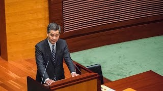 Hong Kong Chief Executive delivers final policy address