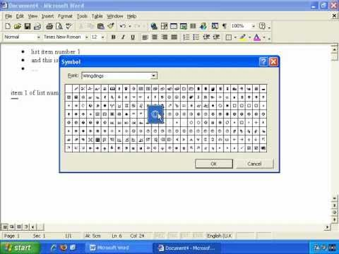 Advanced Features In Microsoft Word - How To Create Bulleted Lists In Word